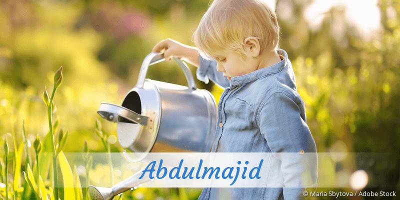 Name Abdulmajid als Bild