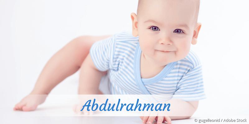 Name Abdulrahman als Bild