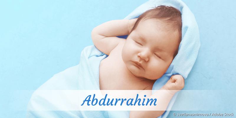 Name Abdurrahim als Bild