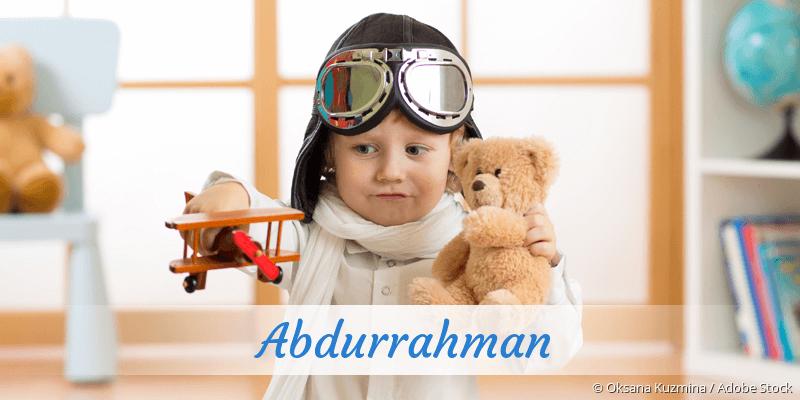 Name Abdurrahman als Bild
