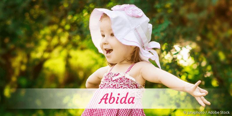 Name Abida als Bild