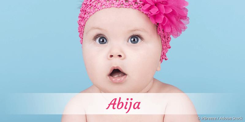 Name Abija als Bild