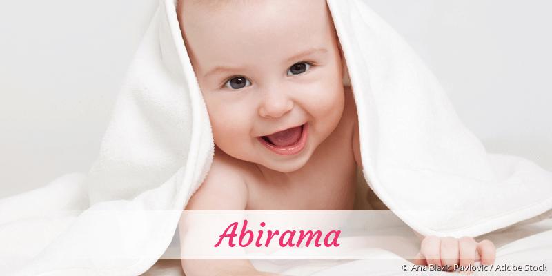 Name Abirama als Bild