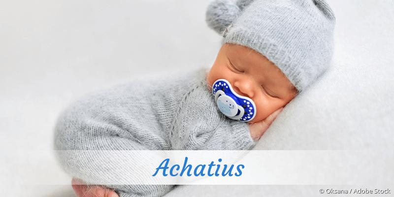 Name Achatius als Bild