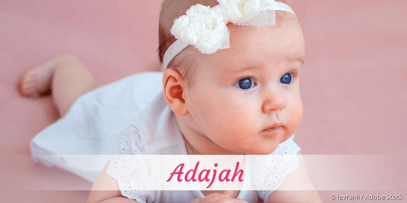Name Adajah als Bild