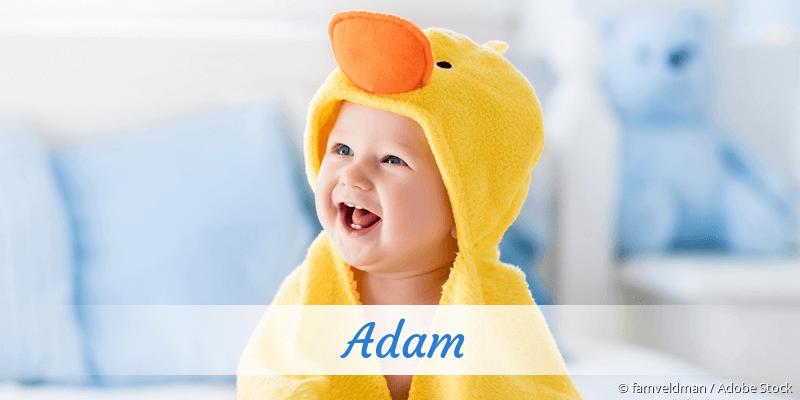 Name Adam als Bild