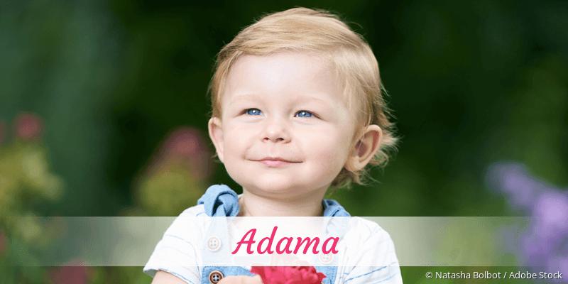 Name Adama als Bild