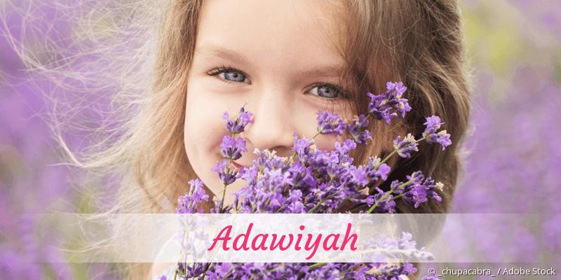 Name Adawiyah als Bild