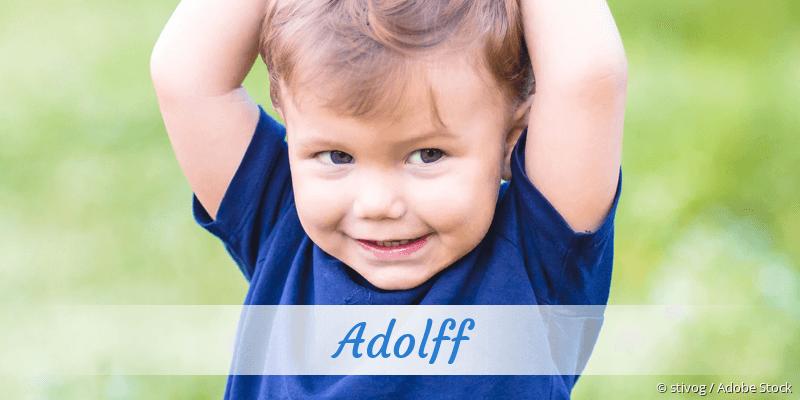 Name Adolff als Bild