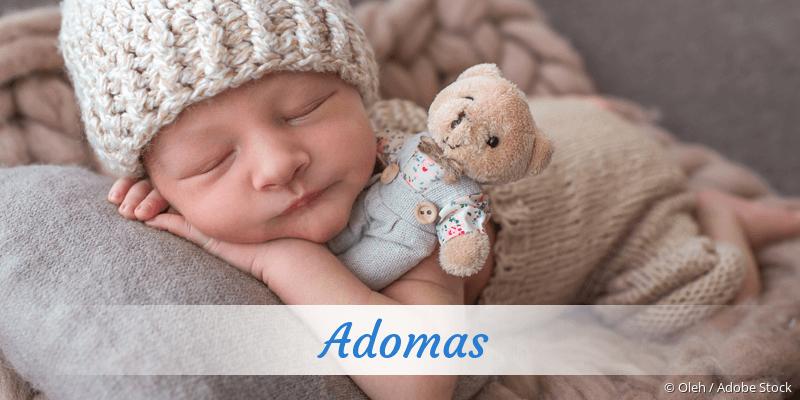 Name Adomas als Bild