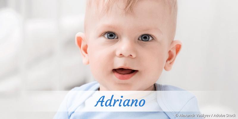 Name Adriano als Bild