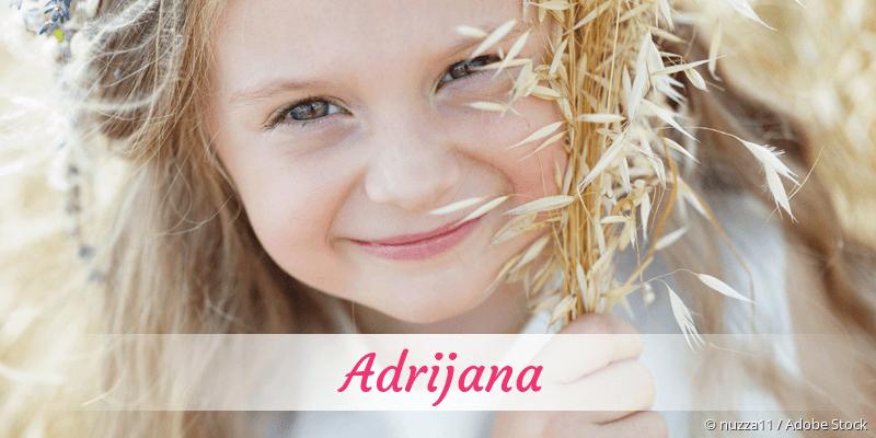 Name Adrijana als Bild