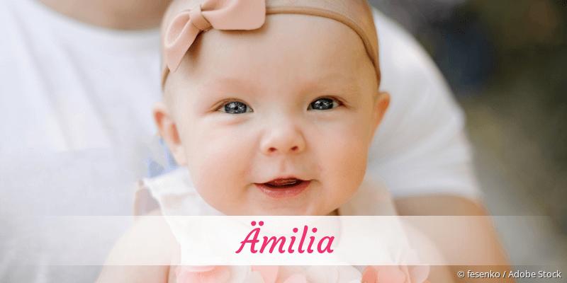 Name Ämilia als Bild