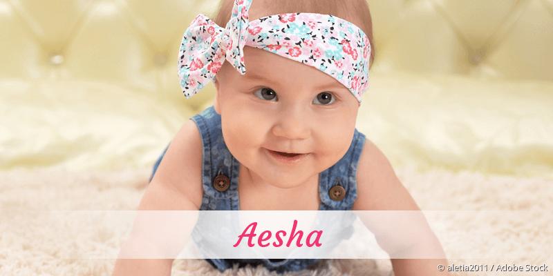 Name Aesha als Bild