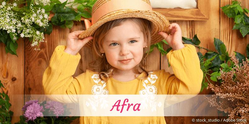 Name Afra als Bild