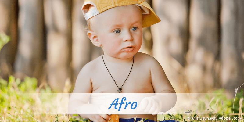 Name Afro als Bild