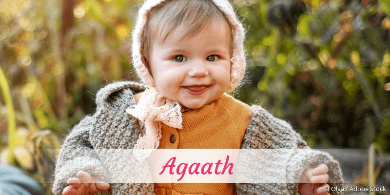 Name Agaath als Bild