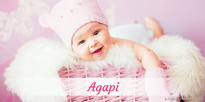 Name Agapi als Bild