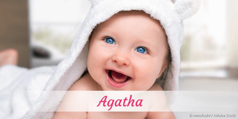 Name Agatha als Bild
