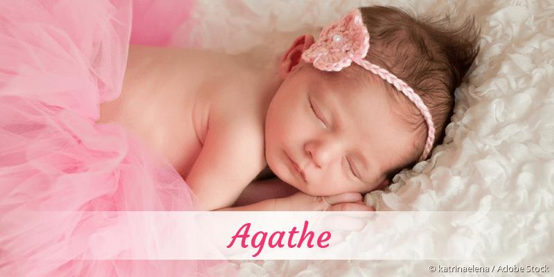 Name Agathe als Bild