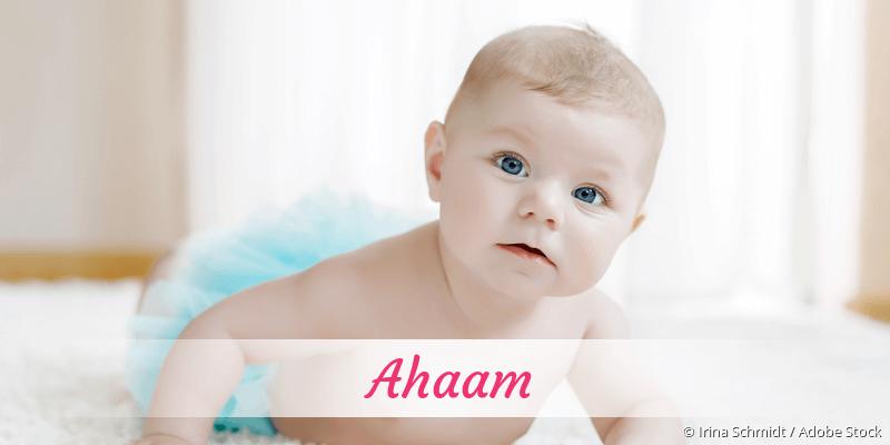 Name Ahaam als Bild