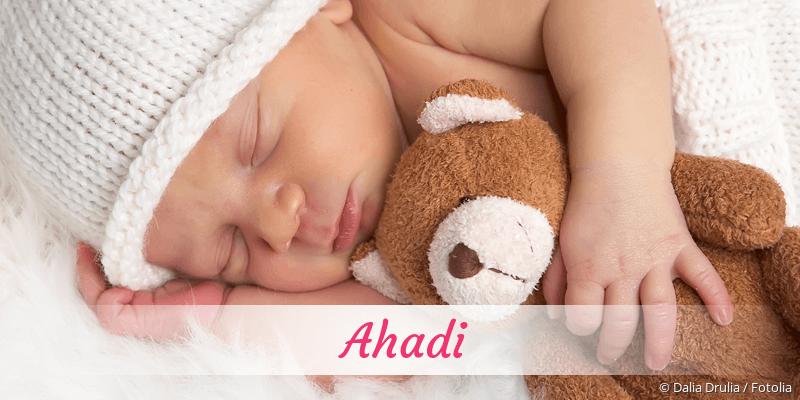 Name Ahadi als Bild