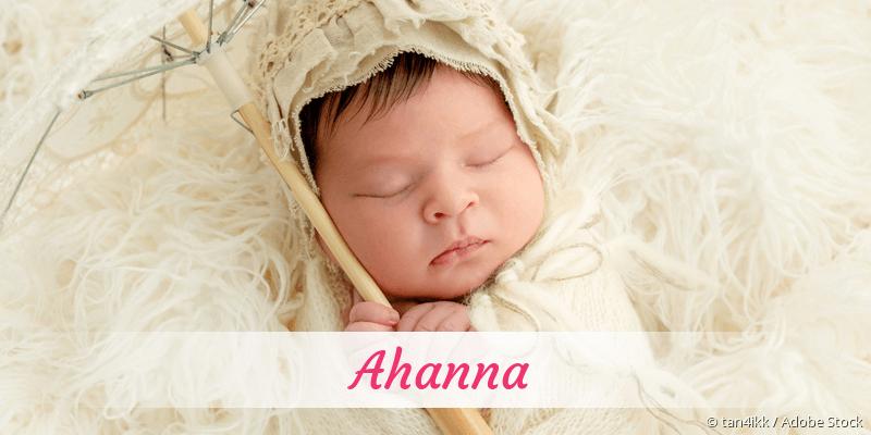 Name Ahanna als Bild
