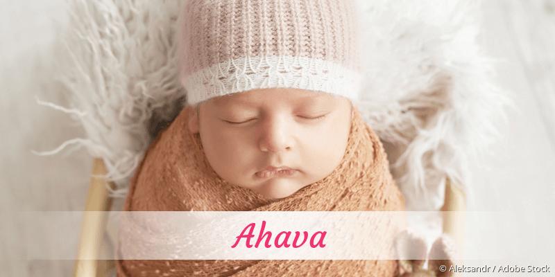 Name Ahava als Bild