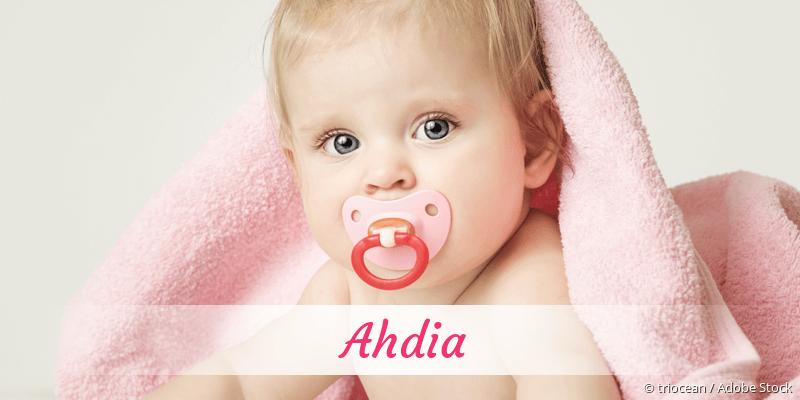 Name Ahdia als Bild