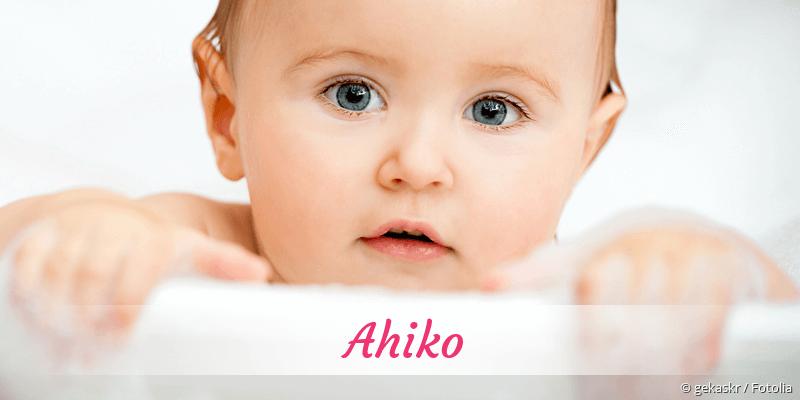Name Ahiko als Bild