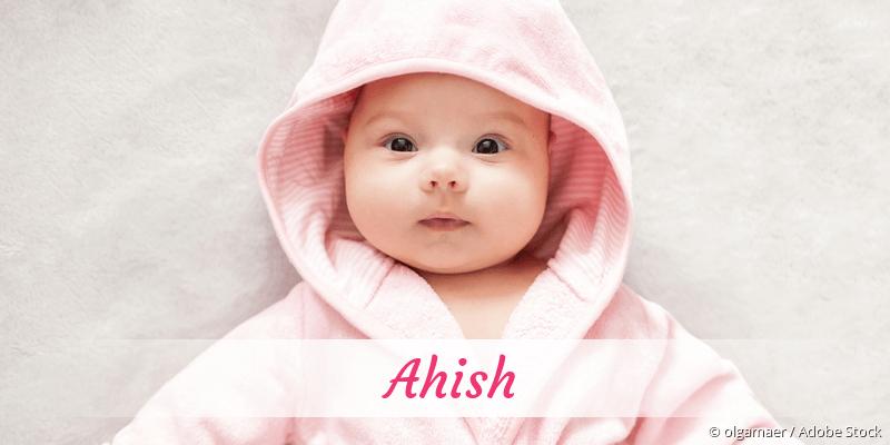 Name Ahish als Bild