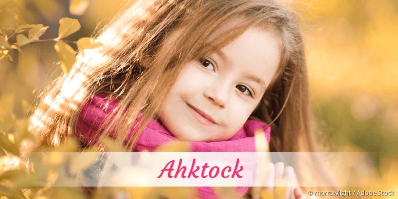 Name Ahktock als Bild