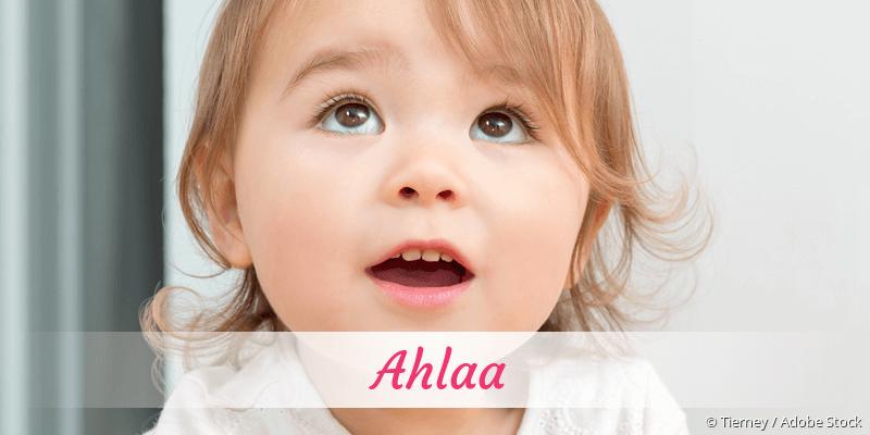 Name Ahlaa als Bild