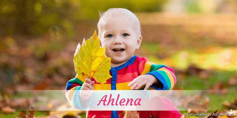 Name Ahlena als Bild