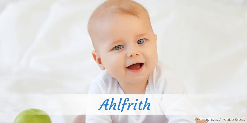 Name Ahlfrith als Bild