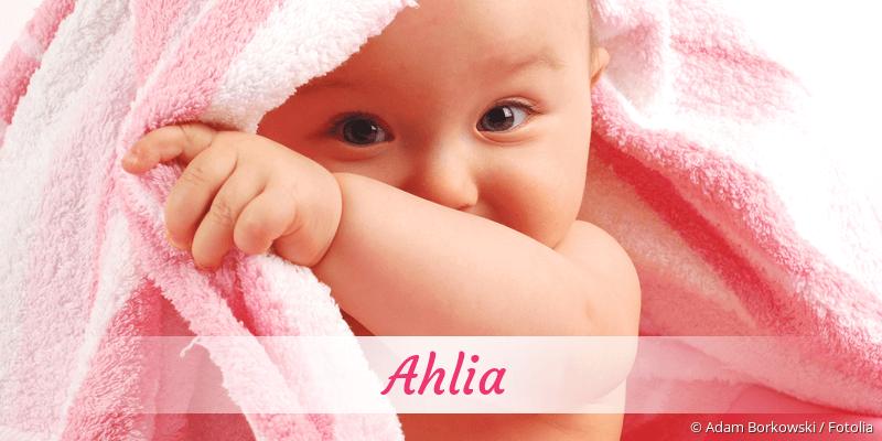 Name Ahlia als Bild
