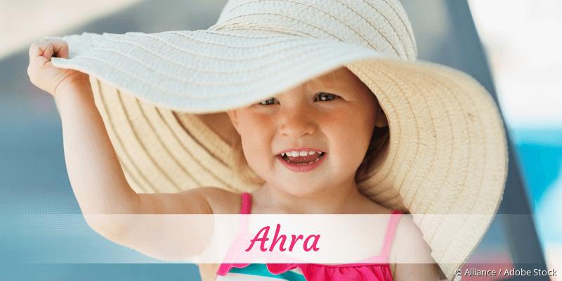 Name Ahra als Bild