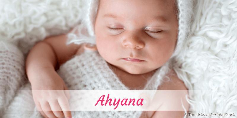 Name Ahyana als Bild