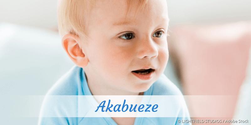 Name Akabueze als Bild