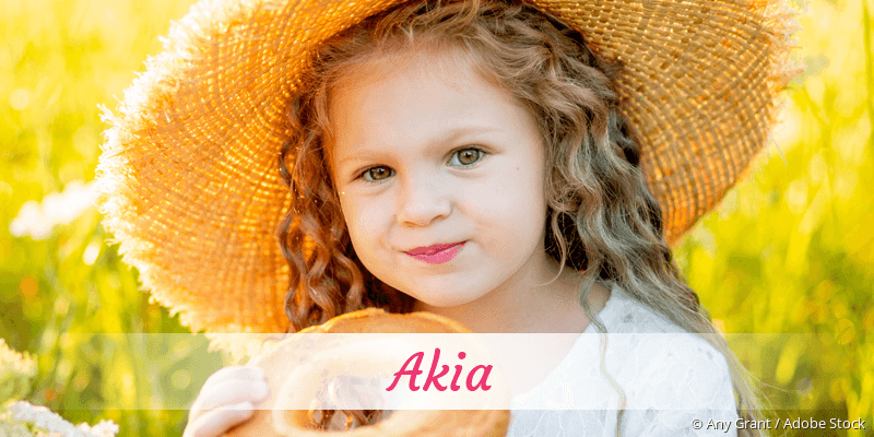 Name Akia als Bild