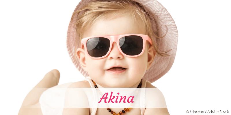 Name Akina als Bild