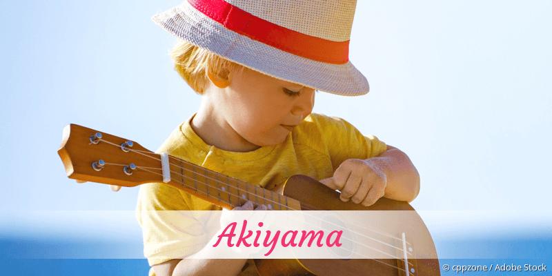 Name Akiyama als Bild