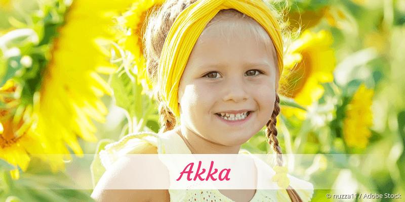 Name Akka als Bild