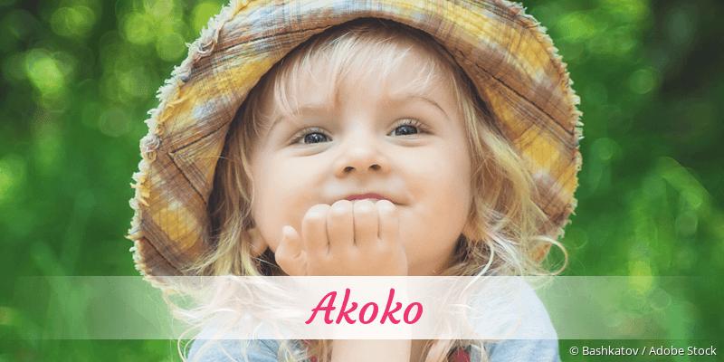 Name Akoko als Bild