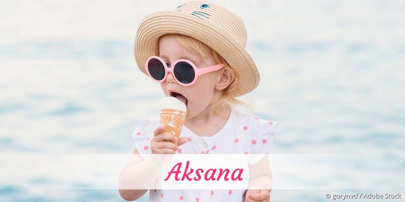 Name Aksana als Bild