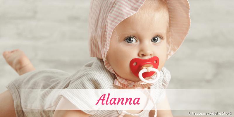 Name Alanna als Bild