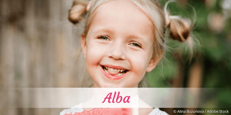 Name Alba als Bild