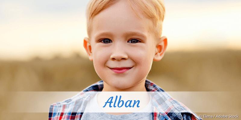 Name Alban als Bild