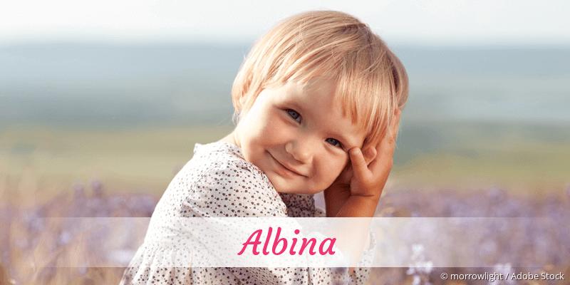 Name Albina als Bild