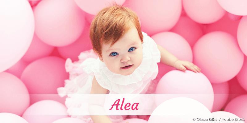 Name Alea als Bild